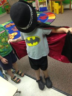 Batman came to Friendly Frogs today! 9-4-14