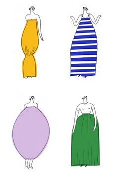 Jil Sander colllection illustrated by Olimpia Zagnoli