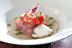 Lomo de pescadilla de pincho con jamón ibérico y carabineros www.tiendajulianmartin.es