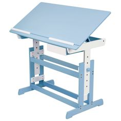 doing homework will be fun with this desk the working surface is tilted and comes equipped with two removable stop bars to prevent the sliding of work