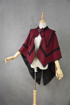 +Plain Doll+ Vampire+ Red&Black Vintage Gothic Lolita Cape $92.99 - My Lolita Dress