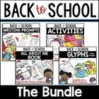 BTS Bundle: All About Me Book, Glyphs,Writing Prompts, Bac