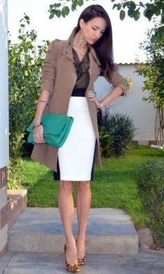 love the black/white color-block skirt