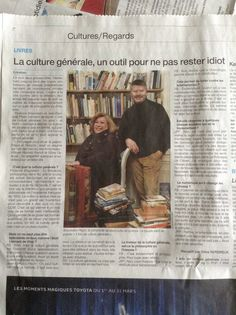 """Dans Ouest France, 13 mars 2014  A propos du livre """"1kg de culture générale"""""""