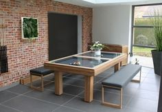 YES.  convertible pool table for outdoor use TECK  Toulet