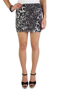 cheetah printed lace bodycon skirt