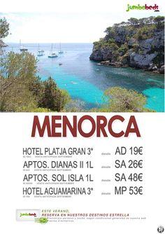 ¡¡¡ Venta Anticipada Septiembre - Menorca - Hotel 3* dsd 19€ !!! - http://zocotours.com/venta-anticipada-septiembre-menorca-hotel-3-dsd-19e/