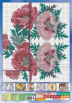 Floral cross stitch patterns will make your embroidered shirts look absolutely exclusive. Here are some great samples that can impress anyone Cross Stitch Flowers, Cross Stitch Patterns, World Crafts, Cross Stitching, Poppies, Needlework, Embroidered Shirts, Make It Yourself, Embroidery