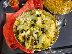 Veg Indian Cooking: Sindhi Tahiri Easy Sesame Chicken, Macaroni And Cheese, Indian, Cooking, Ethnic Recipes, Food, Kitchen, Mac And Cheese, Essen