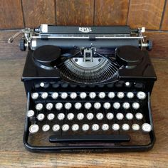 Vintage 1931 Royal Portable Typewriter with original case & accessories, on thearchitecturalforum.com