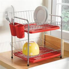 Compact Color Dish Rack | Kitchen | Brylanehome