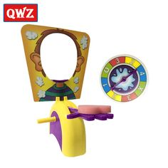 QWZ Shocker Toy Cake Cream Pie In The Face Family Party Fun Game Funny Gadgets Prank Gags Jokes Anti Stress Toys For Kids Gifts