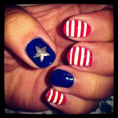 #4th of July Nails. love them