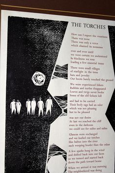 Woodcut illustration by Vanden Berg / The Torches Broadside by James Tate