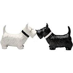 Kissing Scottish Terrier Scottie Dogs Salt & Pepper Shaker Set by Pacific Trading