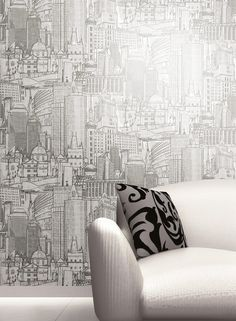 Great Expectations Wallpaper in Metallics design by York Wallcoverings