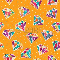 Yellow seamless pattern with diamonds. photo