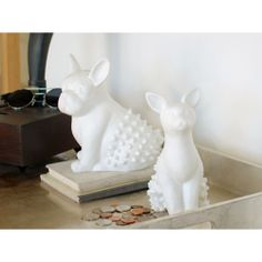 French Bulldog Porcelain Change Collector