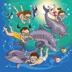 niños en el mar