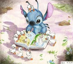 Stitch, not the ducklings. (Though, really, I want my Stitch BACK. I have a stuffed animal Stitch in the attic somewhere...)