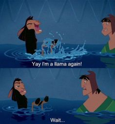 Funny disney humor emperors new groove Ideas Walt Disney, Disney Love, Disney Magic, Disney Stuff, Funny Shit, The Funny, Funny Memes, Funny Quotes, Film Quotes