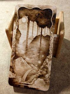 eafd6369ee2 Snowdeer (Kim Sulrok) Wood Burning Tips, Wood Burning Crafts, Wood Burning  Patterns