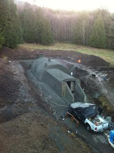 Photo: This Photo was uploaded by VikingShelters. Find other pictures and photos or upload your own wi. Underground Living, Underground Shelter, Underground Homes, Survival Shelter, Tactical Survival, Survival Prepping, Green Magic Homes, Doomsday Bunker, Planer Layout