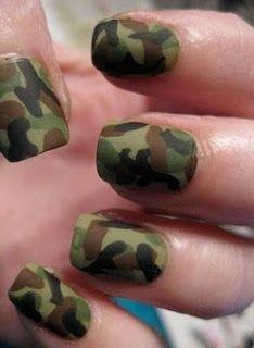 Style Alert: Camo nails. Shop camo at #riverisland