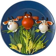Bull and cows salad (made from tomatoes and boiled eggs!)