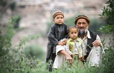 father and sons in Pech Valley