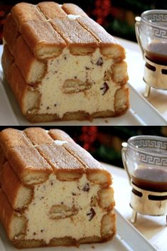 Dip Recipes 76148 Iced tiramisu cake is very practical (another dessert which is prepared in advance!), It is made without special equipment via Loaf Recipes, Easy Cake Recipes, Dip Recipes, Gourmet Recipes, Dessert Recipes, Gourmet Foods, Pastry Recipes, Tiramisu Cake, Dessert Bread