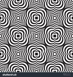 striped flower weaving pattern black and white vector