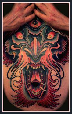 """Tattoo by Lars """"Lu's Lips"""" Uwe from Loxodrom in Berlin Tribal Tattoos, Cool Tattoos, Sternum Tattoos, Tattos, Japanese Tatoo, True Tattoo, Eccentric Style, Neo Traditional Tattoo, Tattoo Inspiration"""