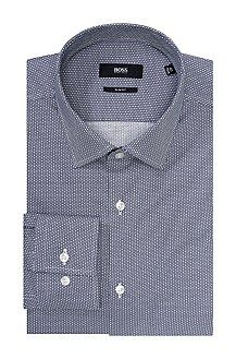 Slim-fit business shirt 'Jenno' with a reinforced Kent collar, Dark Blue