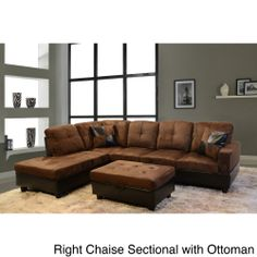 Delima 3-piece Microsuede Sectional Set  sc 1 st  Pinterest : microsuede sectionals - Sectionals, Sofas & Couches