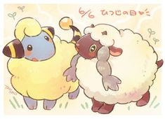 Meerep and Wooloo, by Pixiv Id 2456220 Pokemon Alola, Nintendo Pokemon, Pokemon Party, Pikachu, Pokemon Stuff, Pokemon Images, Pokemon Pictures, Cute Sheep, Pokemon Special