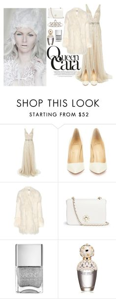 """""""Snow queen"""" by sherrlie ❤ liked on Polyvore featuring Jovani, Christian Louboutin, STELLA McCARTNEY, Tory Burch, Marc Jacobs, Yves Saint Laurent, women's clothing, women's fashion, women and female"""