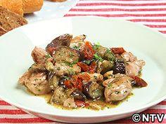鶏肉となすのドライトマト煮のレシピ|キユーピー3分クッキング