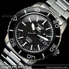 BUY Seiko Mens Automatic Hardlex Crystal All Black SNZH59J1 Japan - Buy Watches Online   SEIKO NZ Watches