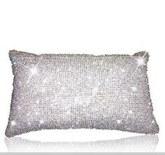 pillow with crystals from Swarovski Bling Bling, Crystals In The Home, Bling Wedding, Sparkles Glitter, Glitz And Glam, Diamond Are A Girls Best Friend, Crystal Jewelry, Girly Things, Decoration