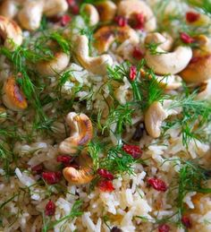 my version of Yotam Ottolenghi's Saffron rice with barberries and ...