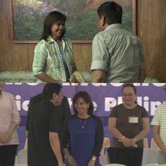 That bright smile of VP Leni Robredo with President Rody Duterte's presence. Button Down Shirt, Men Casual, Bright, Smile, Mens Tops, Shirts, Fashion, Moda, Dress Shirt