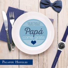 ¡Celebra el Día del Padre con nosotros! Aprovecha nuestra promoción los días 17 y 18 de marzo en Celebris y Restaurante Aragonia Palafox: por la reserva de 4 adultos a menú completo, ¡papá come gratis! :)