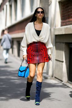 I am absolutely taken with that skirt! Do you have any thoughts on the outfit?