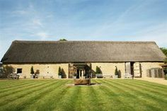 The Tythe Barn, Bicester is a beautiful restored 14th century stone and thatched structure.