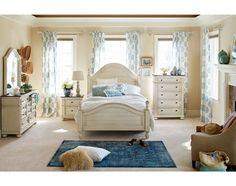 The East Hampton Antique White Collection   American Signature Furniture