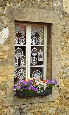 Normandy, France a beautiful French window Garden Windows, Windows And Doors, Pintura Exterior, Deco Floral, Window Dressings, Window View, Through The Window, Window Boxes, Flower Boxes