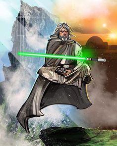 Luke Skywalker (1, 2) by venamisart (Eli Hyder)