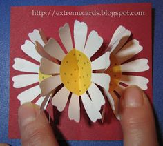 Three flower pop up card tutorial from extreme cards and papercrafting - what a great site!