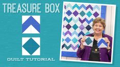 MSQC Tutorial - Treasure Box Quilt / try with batik charms or rainbow packs. Charm Pack Quilt Patterns, Charm Pack Quilts, Block Patterns, Quilting Patterns, Missouri Quilt Tutorials, Quilting Tutorials, Msqc Tutorials, Quilting Tips, Jenny Doan Tutorials